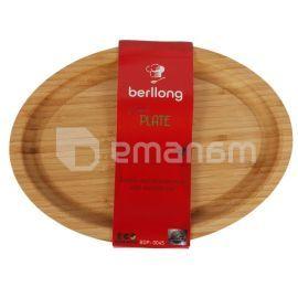 ხის თეფში Berllong BOP-0045 28x20x2 სმ